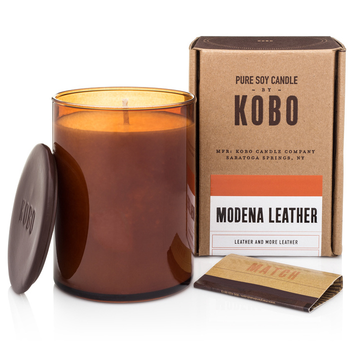 MODENA LEATHER - WOODBLOCK CANDLES