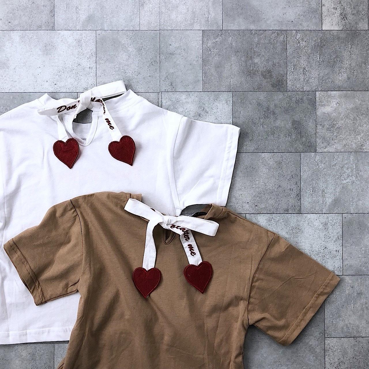 ハートストラップTシャツ(2カラー)no.805053 #子供服 #子ども服 #女の子 #トップス