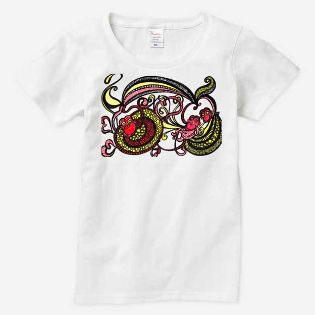 ◆レディスTシャツ◆ ハッピーモンキー 親子コーデ対応