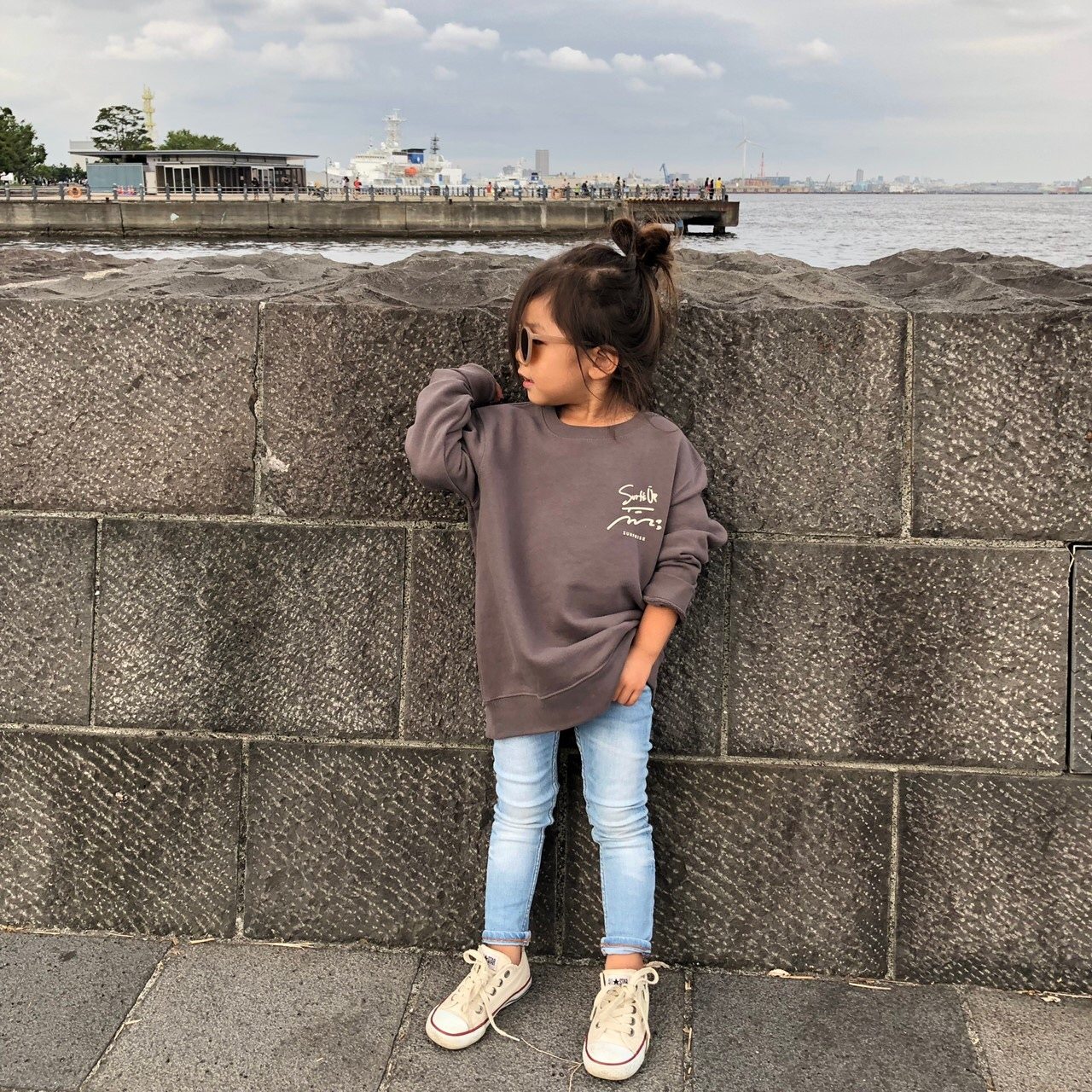 ★Kids★ Surf's Up sweat - Charcoal