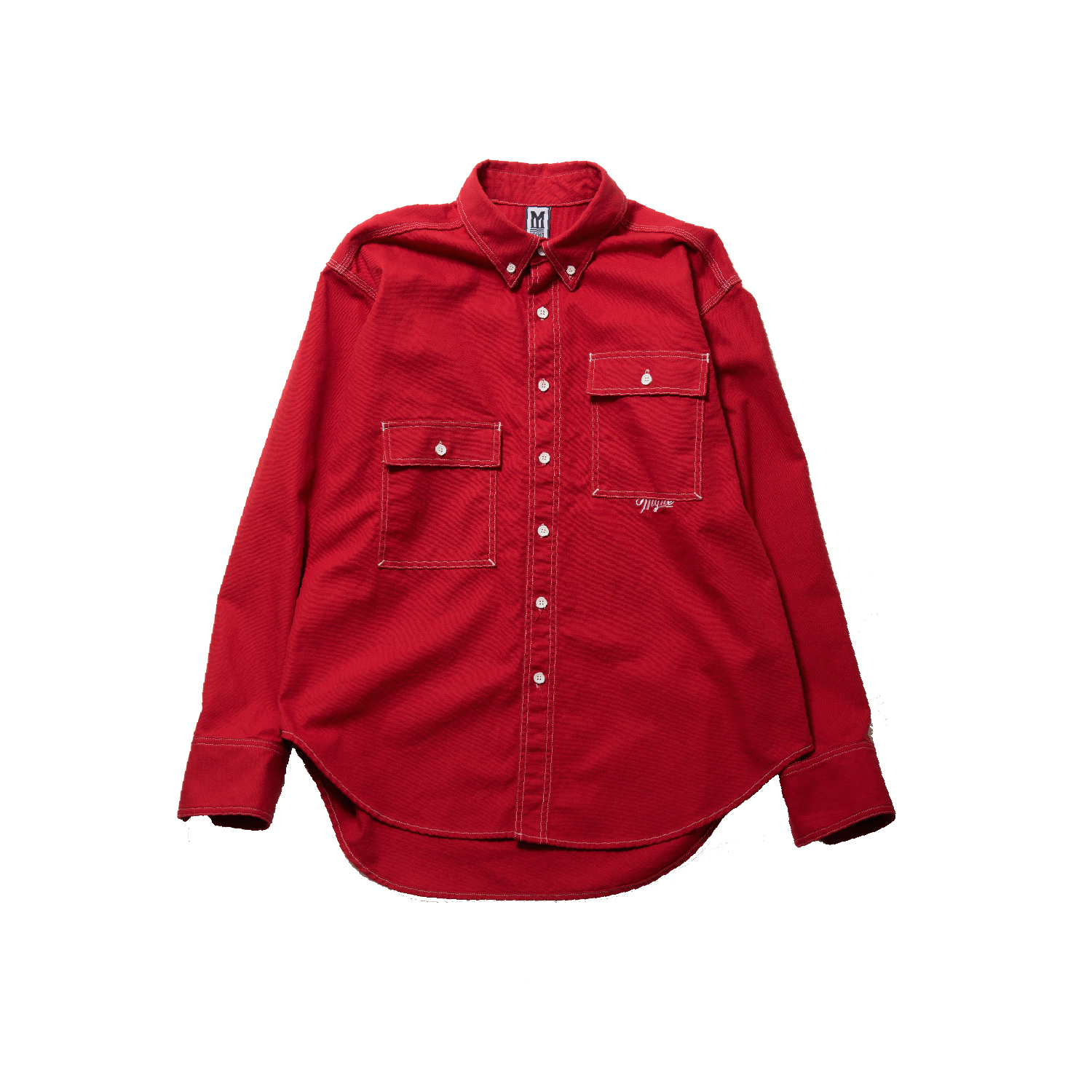 OVER SIZE SHIRT / RED - 画像1