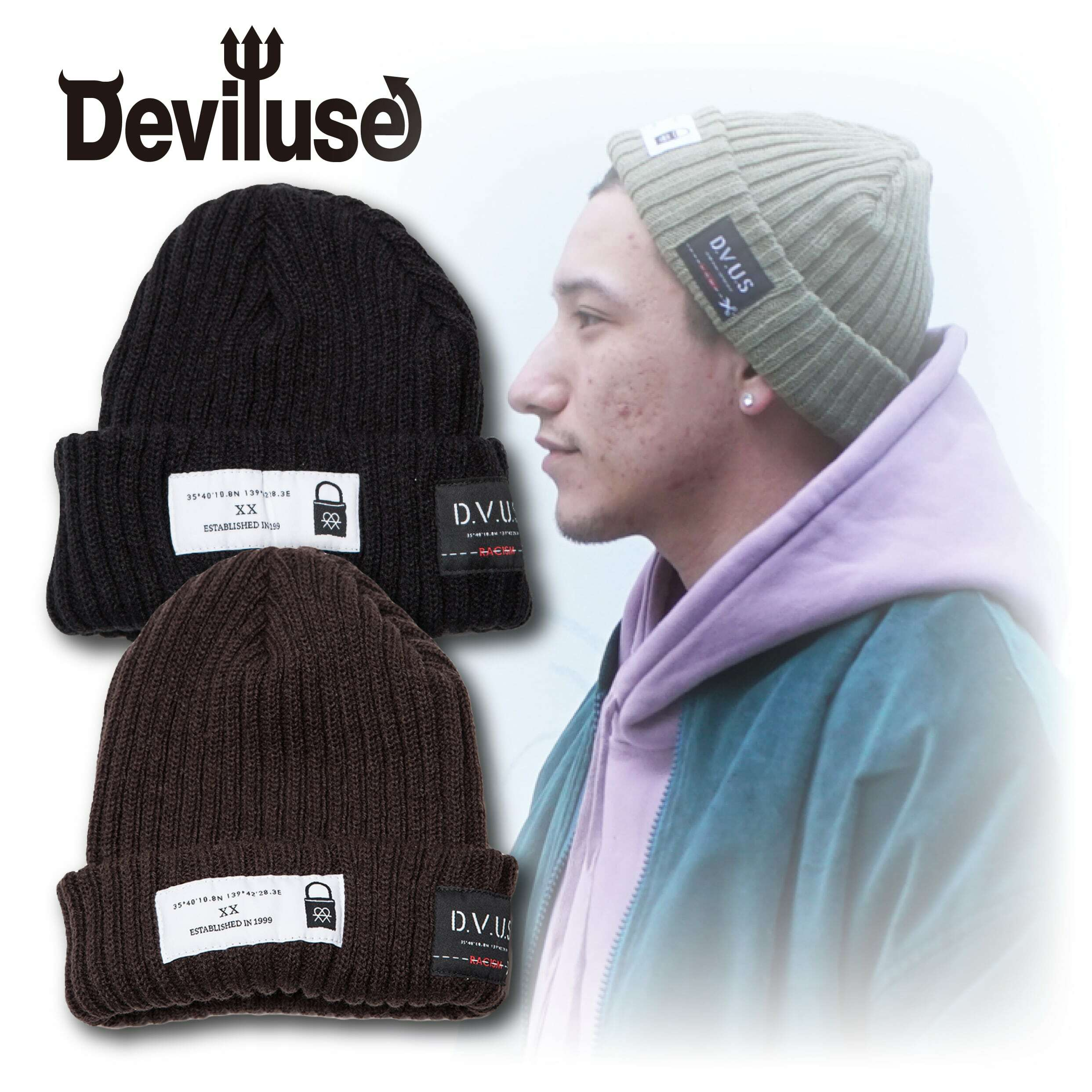 Deviluse(デビルユース) | Patch Beanie