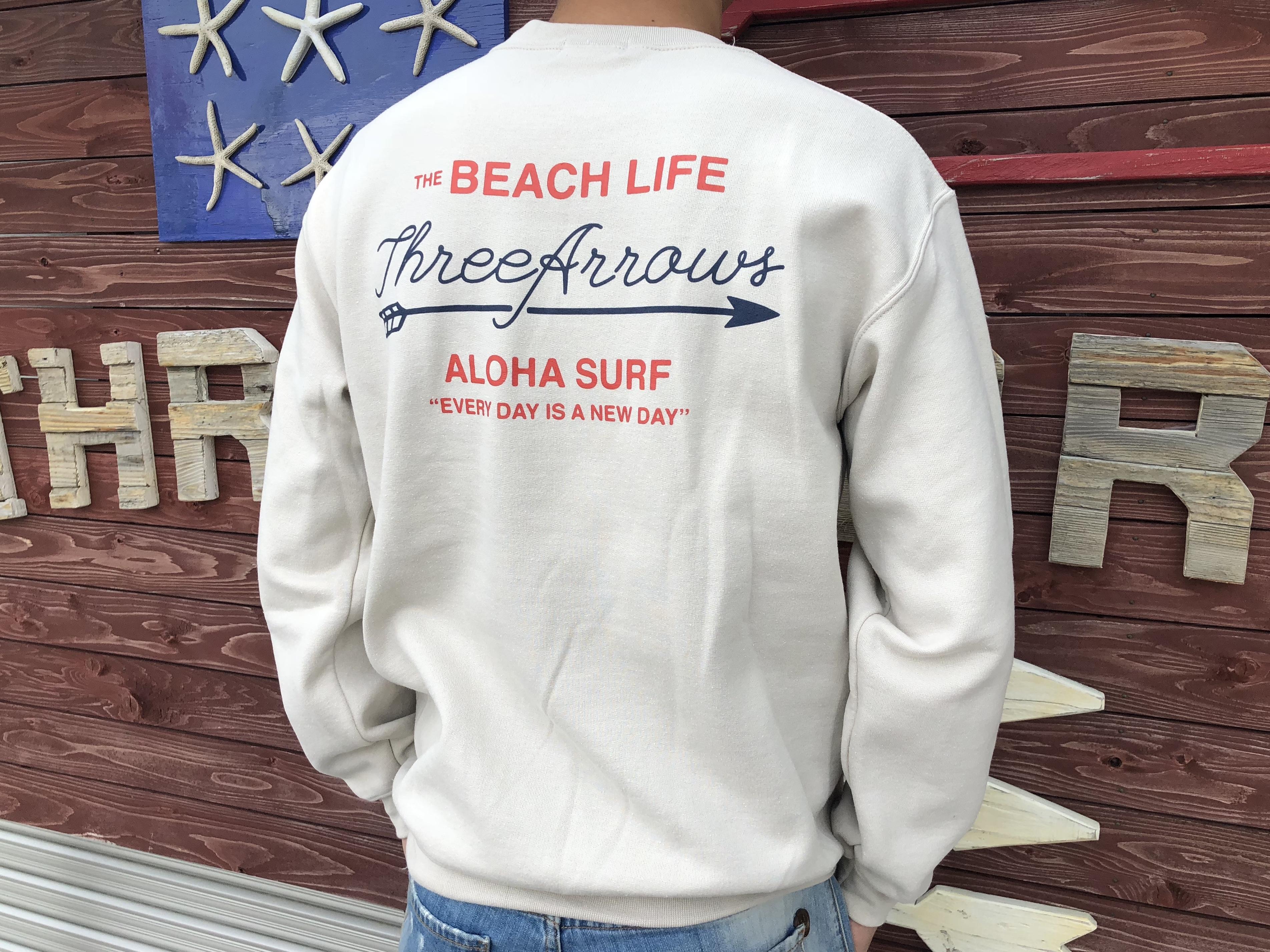 THE BEACH LIFE スウェット(beige)