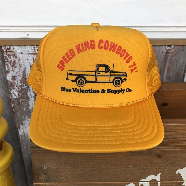BLUE VALENTINE #Speed King Cowboys Trucker Hat GOLD