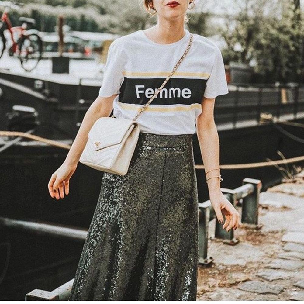 Femme ロゴ ライン Tシャツ