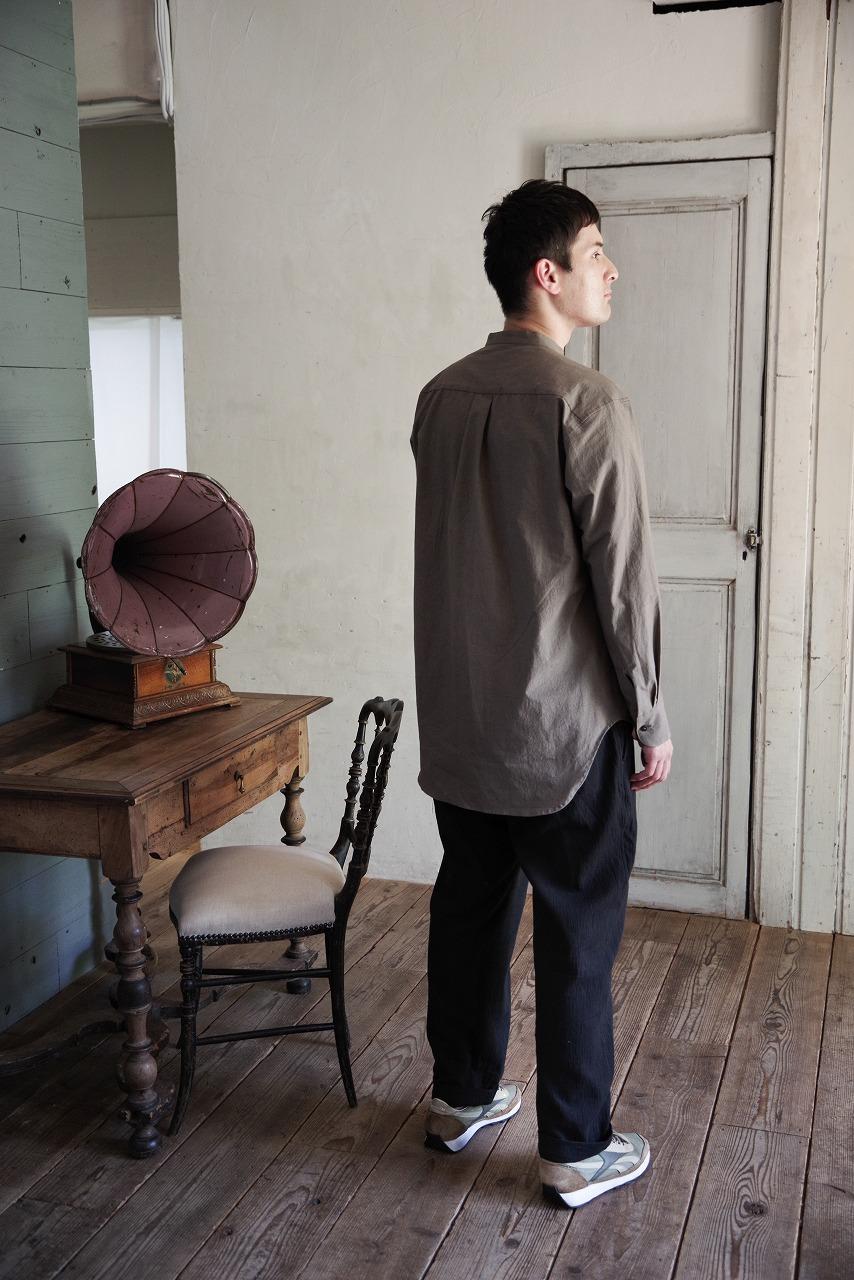 Slub Cloth Wide L/S Shirt
