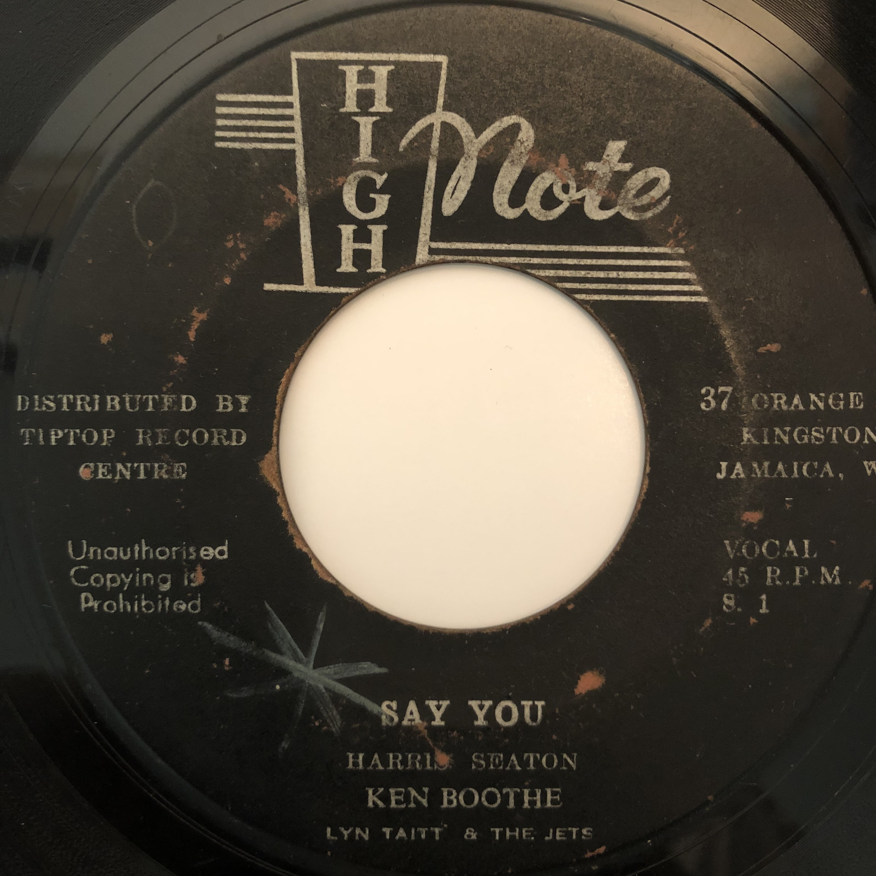 Ken Boothe, Lyn Taitt & The Jets - Say You【7-20287】