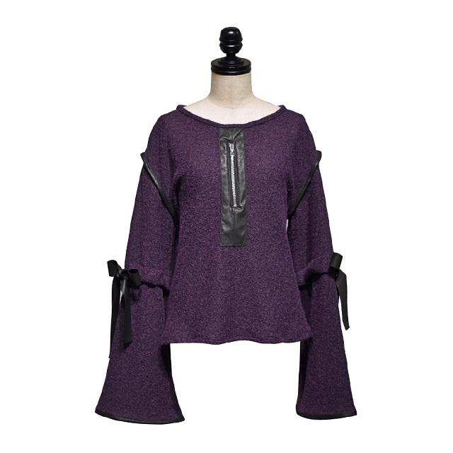 koll / tied sleeve blouse / Purple