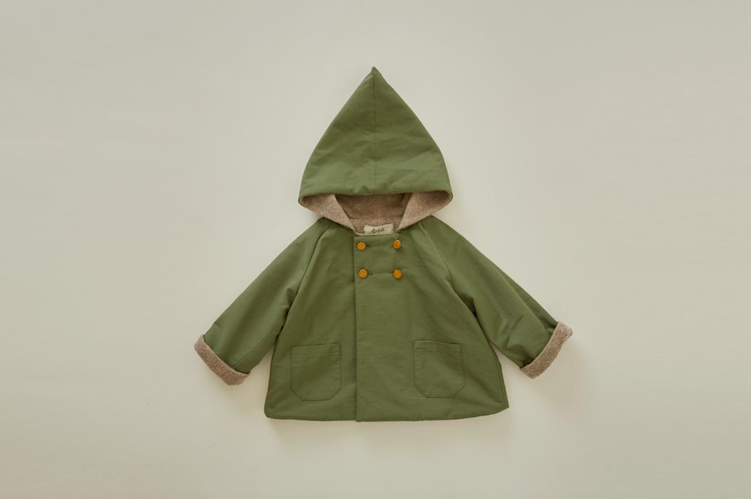 eLfinFolk(エルフィンフォルク)/elf coat sage green(90/100)