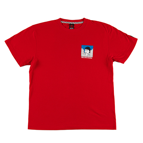 【ROLLING CRADLE | ロリクレ】VINTAGE PACKAGE T-SHIRT / Red
