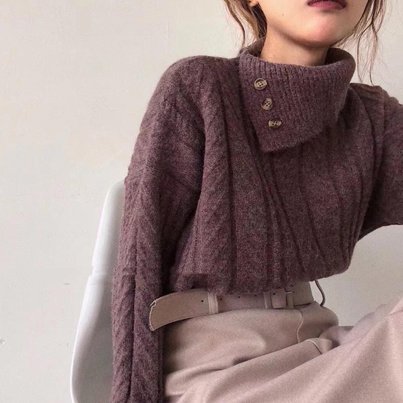 〈カフェシリーズ〉タートルネックプルオーバー【turtle neck sweater】