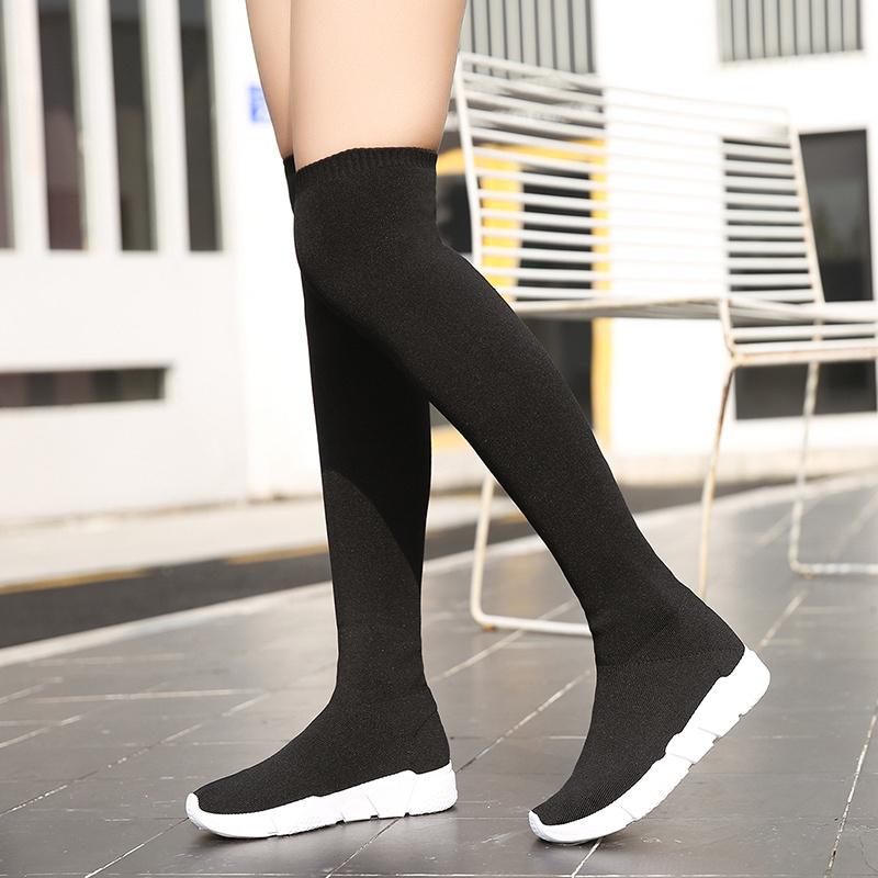 【shoes】定番ミドルヒールファッションブーツ