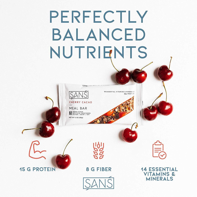 SANS オールナチュラルプロテインバー Cherry Cacao 6袋セット