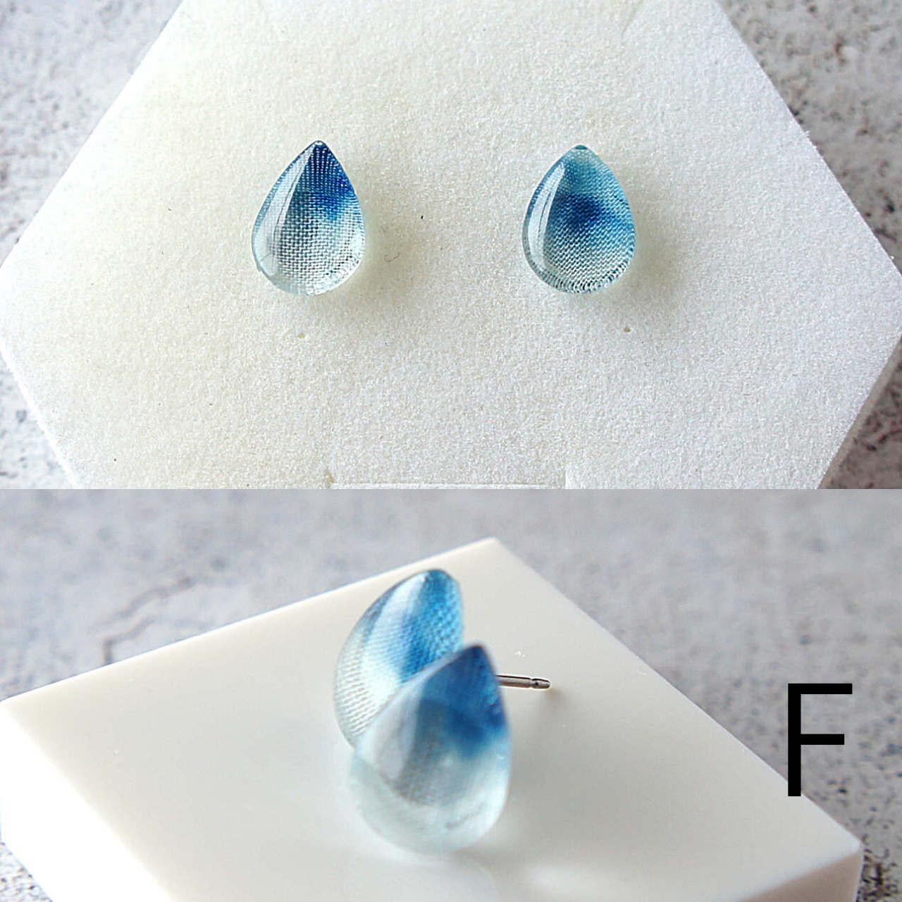 """"""" 藍染硝子-aizome-″ 淡い配色小ぶり 18mm以下"""