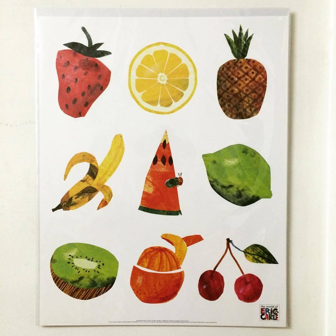 ポスター「エリック・カール はらぺこあおむし フルーツ」 - 画像1