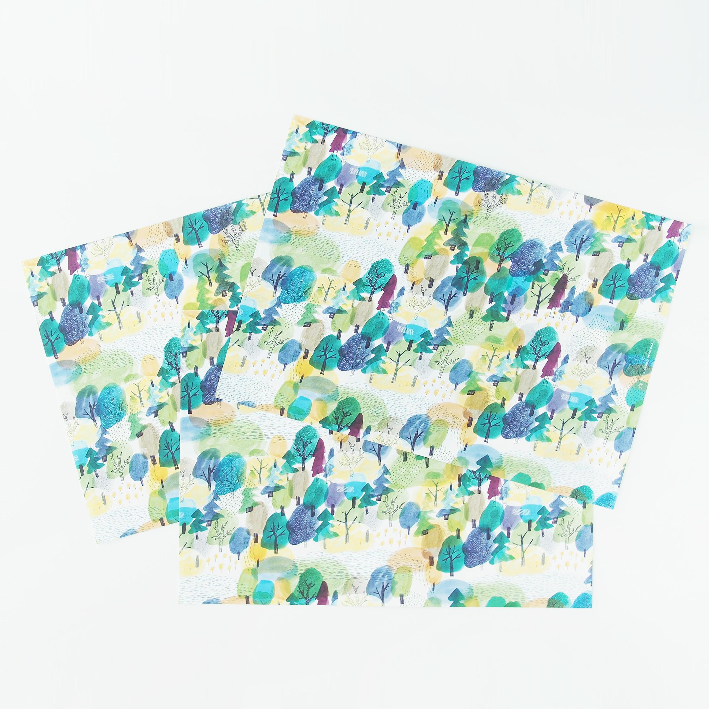 包装紙|インク沼が大きくなった湖
