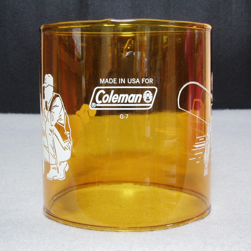 コールマン #4 ランタン アンバーグローブ フィッシャーマン&スポーツマン ガラスグローブ Made in USA! 希少!288・286・282・214等に最適!新品未使用品!
