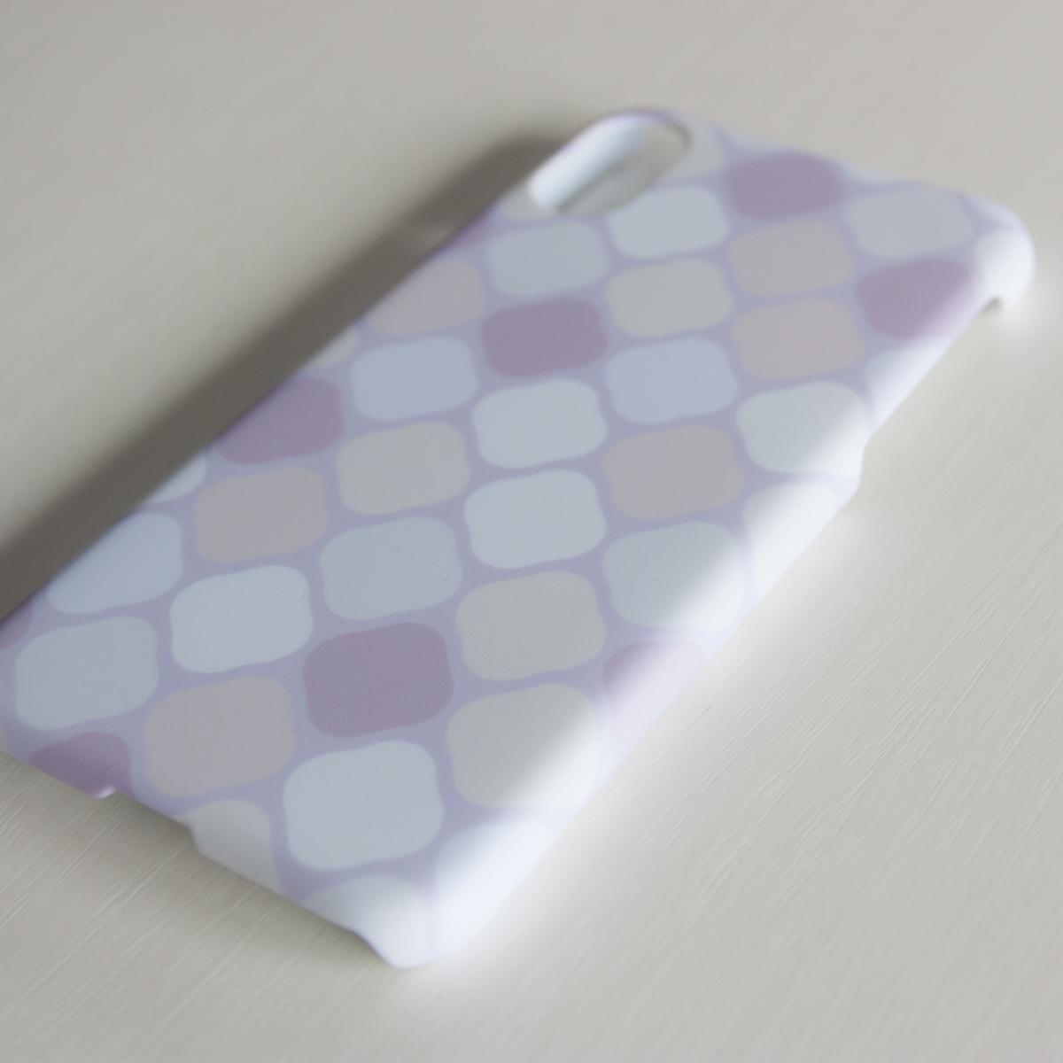 amane cu〔スマートフォンケース(ハード・マットタイプ)〕はなごろも【白茶】- for iPhone