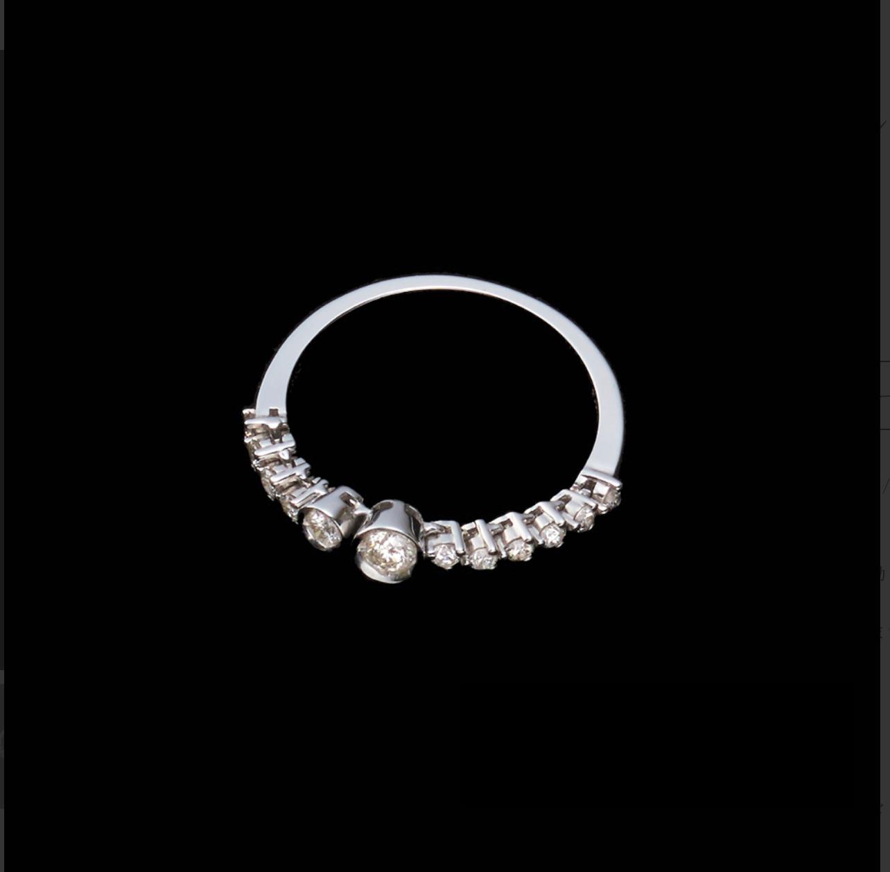 jewelG <Chic>リング K18/ダイヤモンド