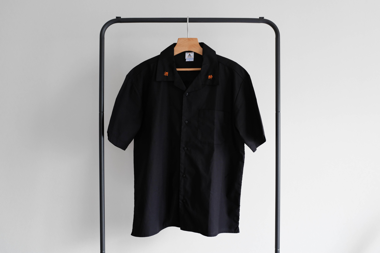酒飲酔寝CLUB Open Collar Shirt