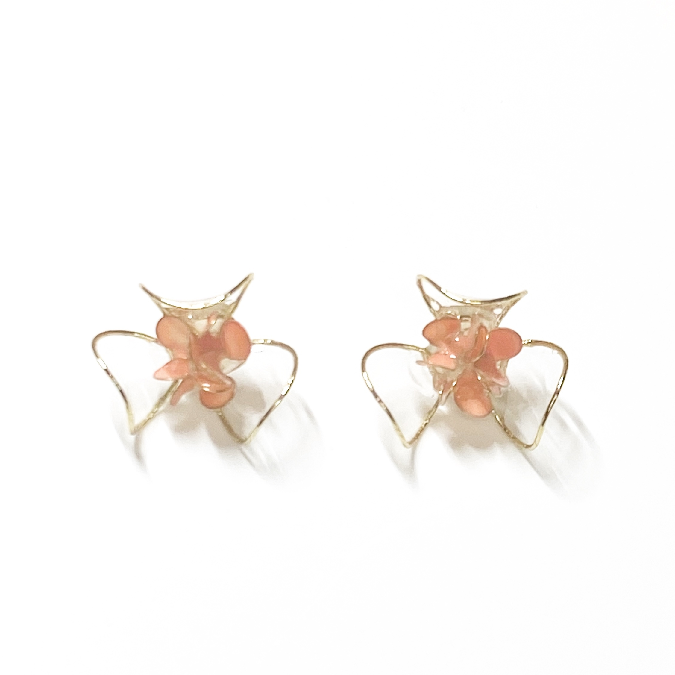 clear flower L/ 8Color .    ピアス・イヤリング
