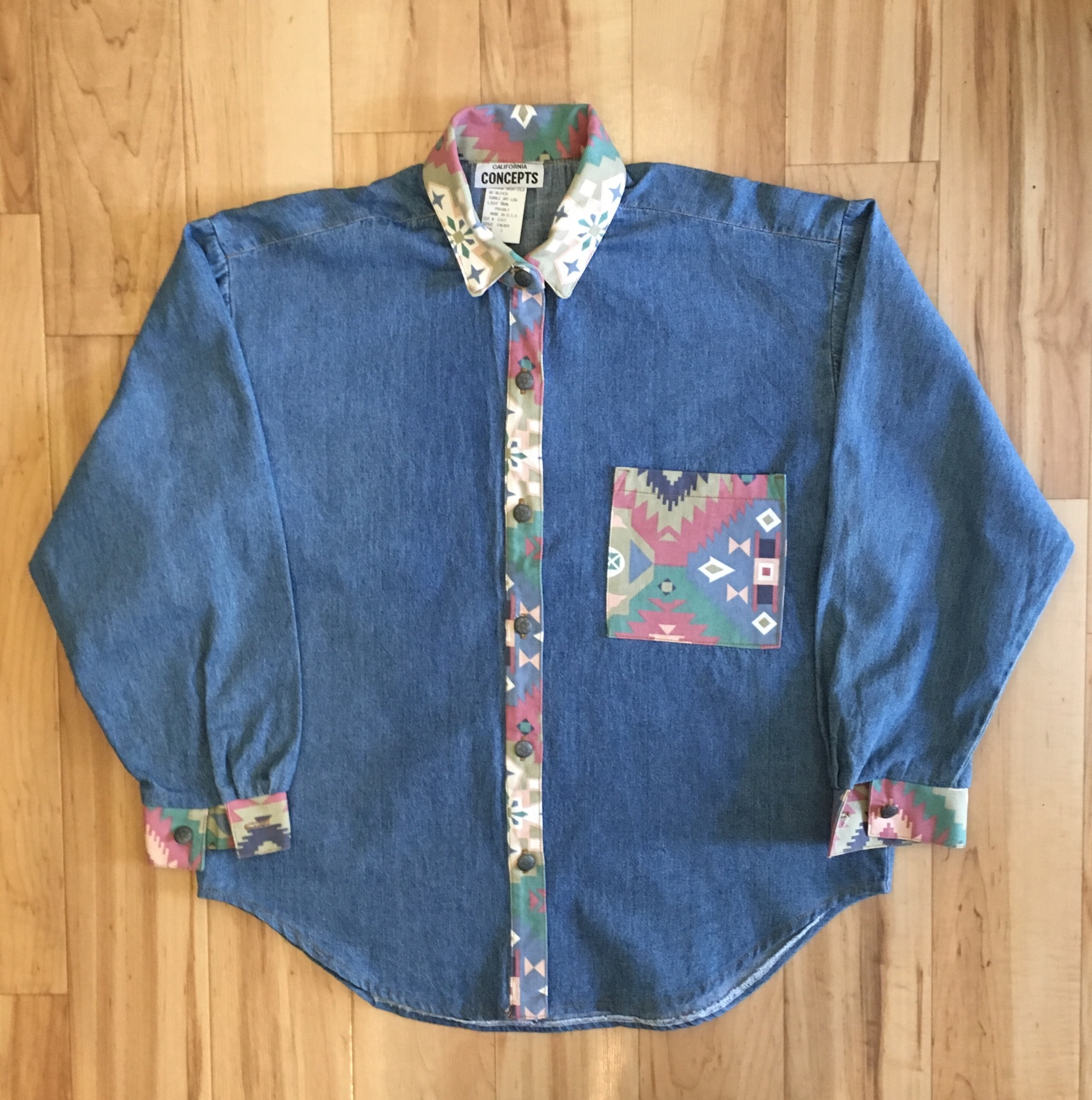 CALIFORNIA CONCEPTS Denim Long Sleeve Shirts