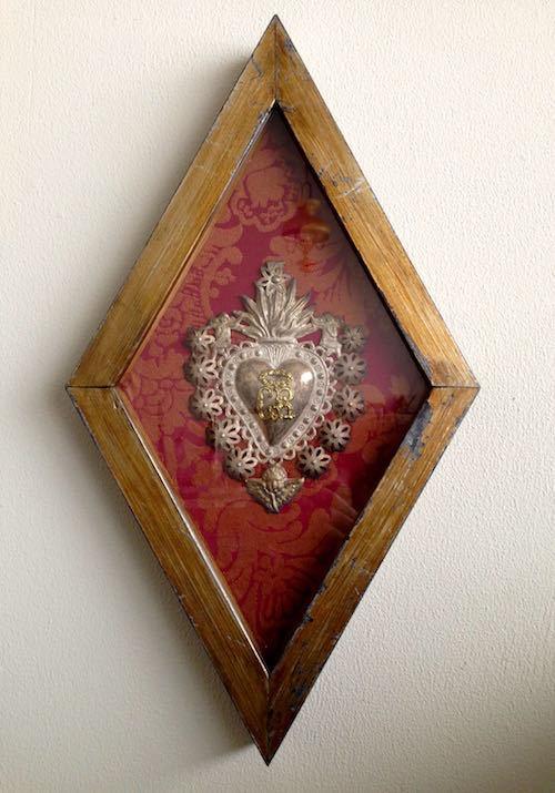 Antique Ex-voto with frame