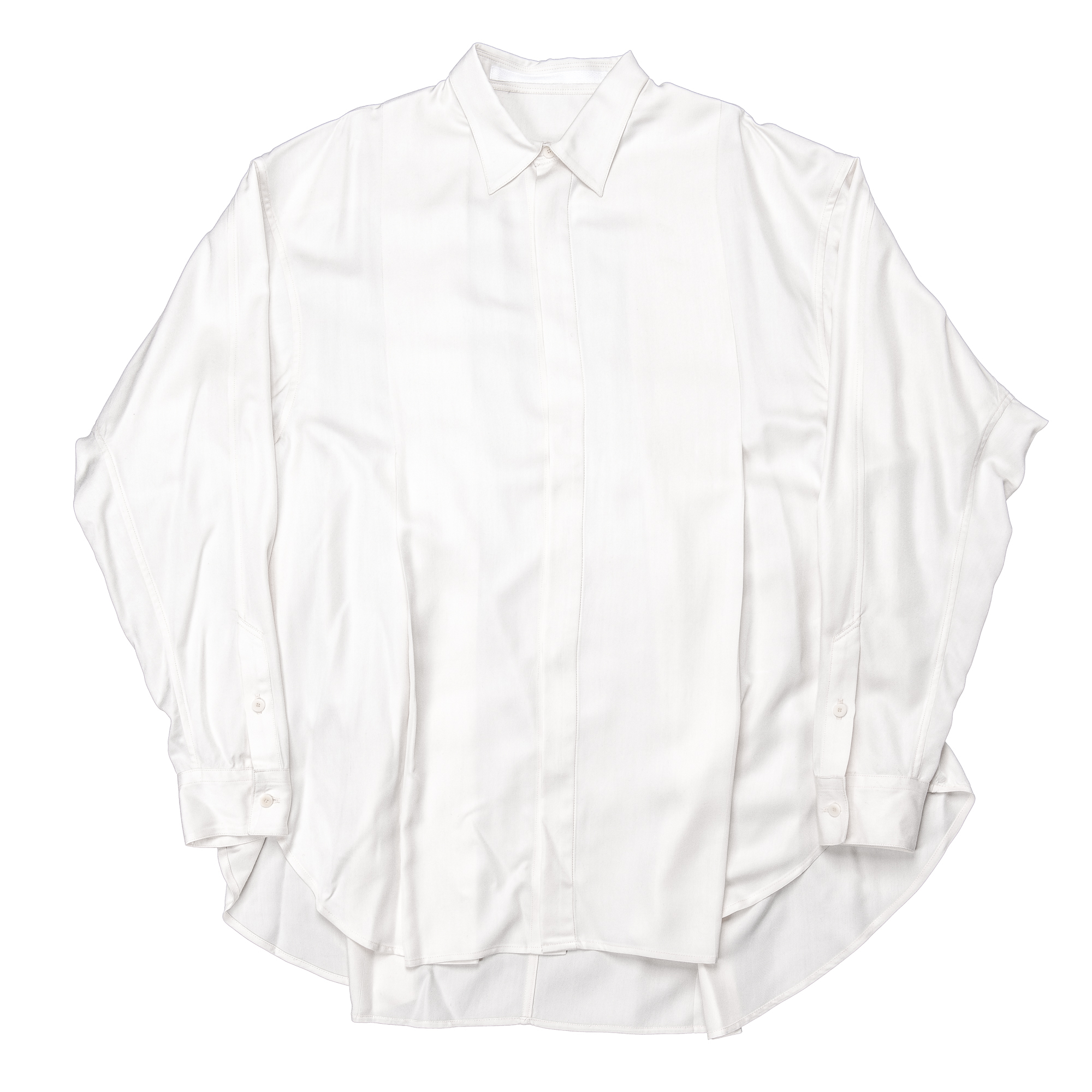 647SHM2-PLASTER / タックドワイドシャツ