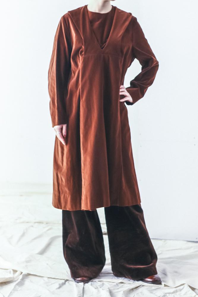 80's Brown Velvet Dress