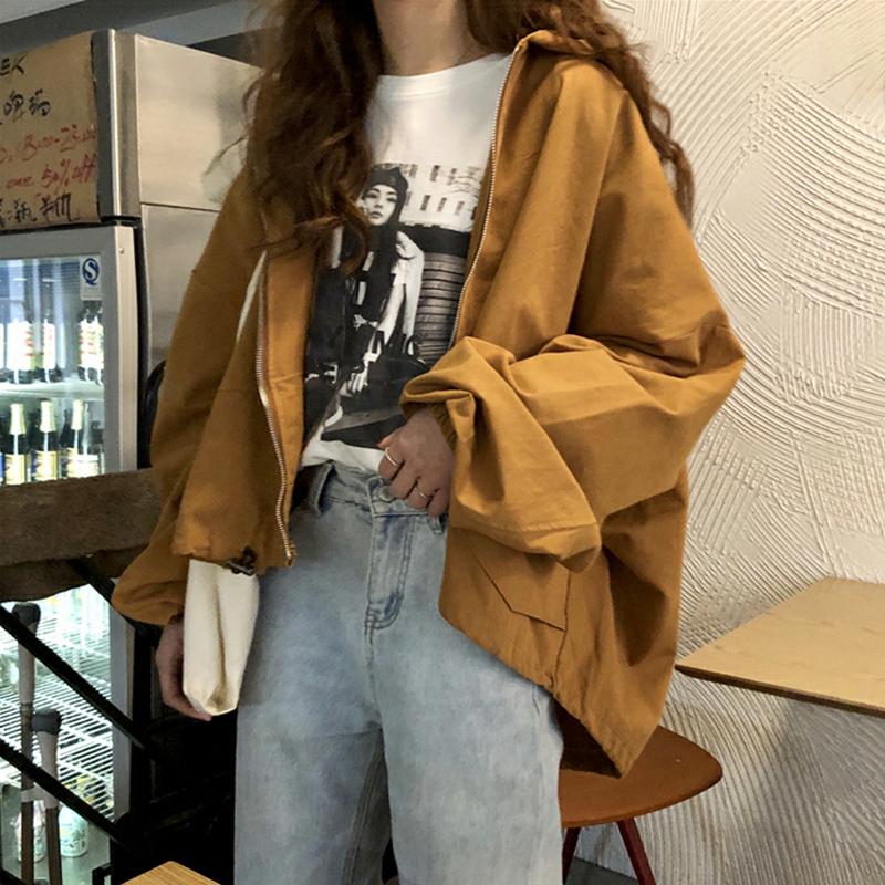 【送料無料】こなれジャケット♡ 秋 ライトアウター マウンテンパーカー フード付き ボリューム袖 カジュアル