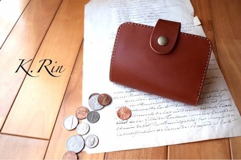 【受注制作】シンプルデザインの2つ折り財布