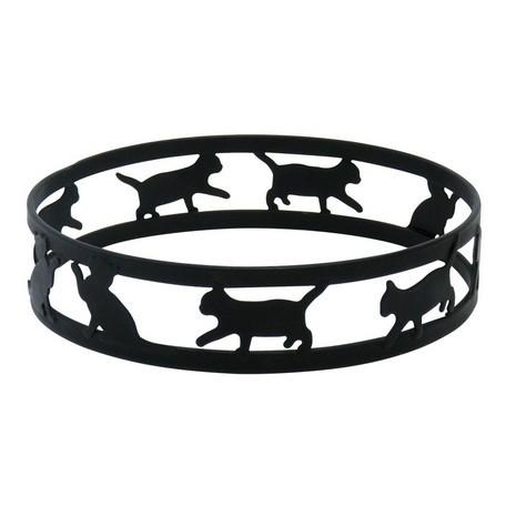 猫トリベット鍋敷き(ネコブラック)