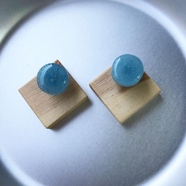 mokune × N7enunana ピアス/イヤリング  Light Blue