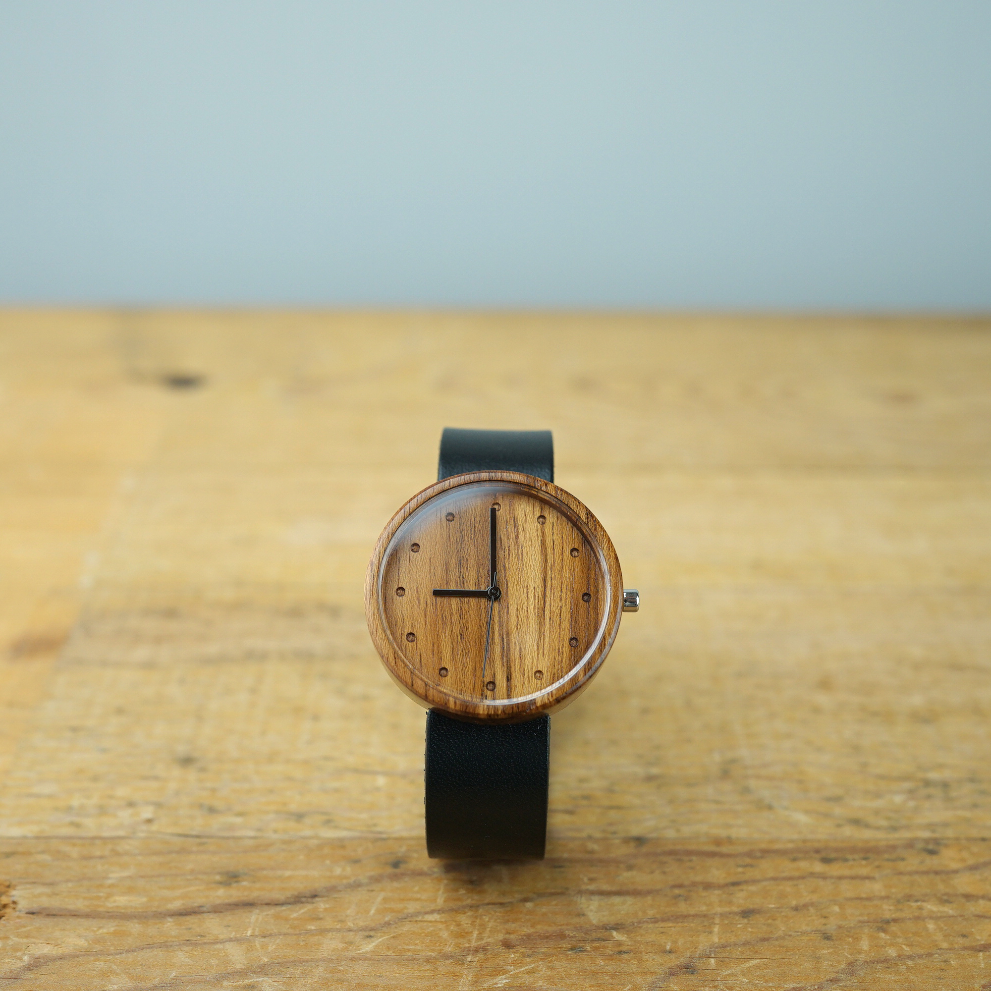 Teak wood - Japanese leather - L