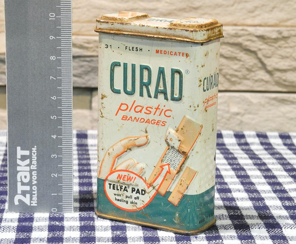 【Vintage/Used品】Vintage tin CURAD Plastic BANDAGES  ヴィンテージ缶/151
