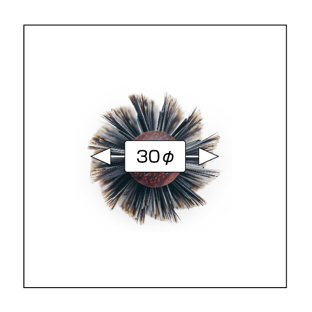 (NB-BSN30)N.B.A.A.ソフトロールブラシ 30 ナチュラルウッド