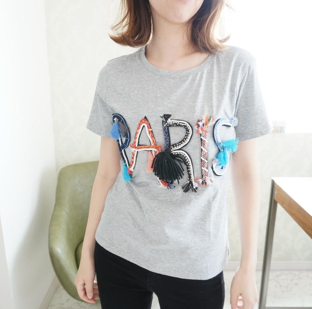 PARIS刺繍Tシャツ
