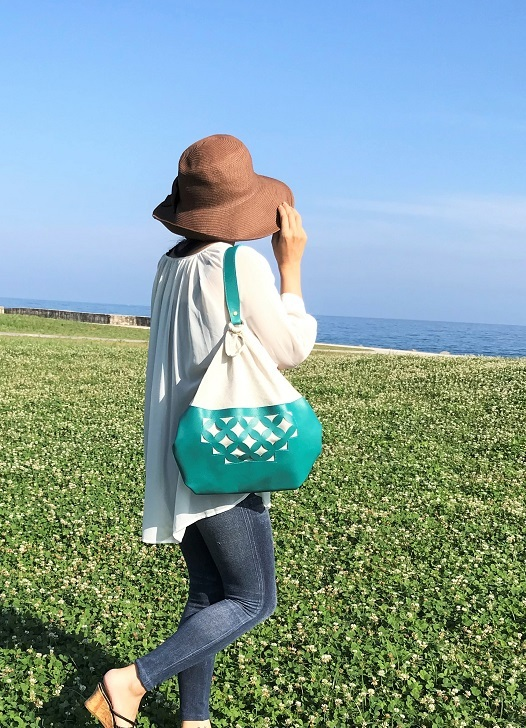 革文うちくい・七宝文のふろしきバッグ 小サイズ【codejasmin】