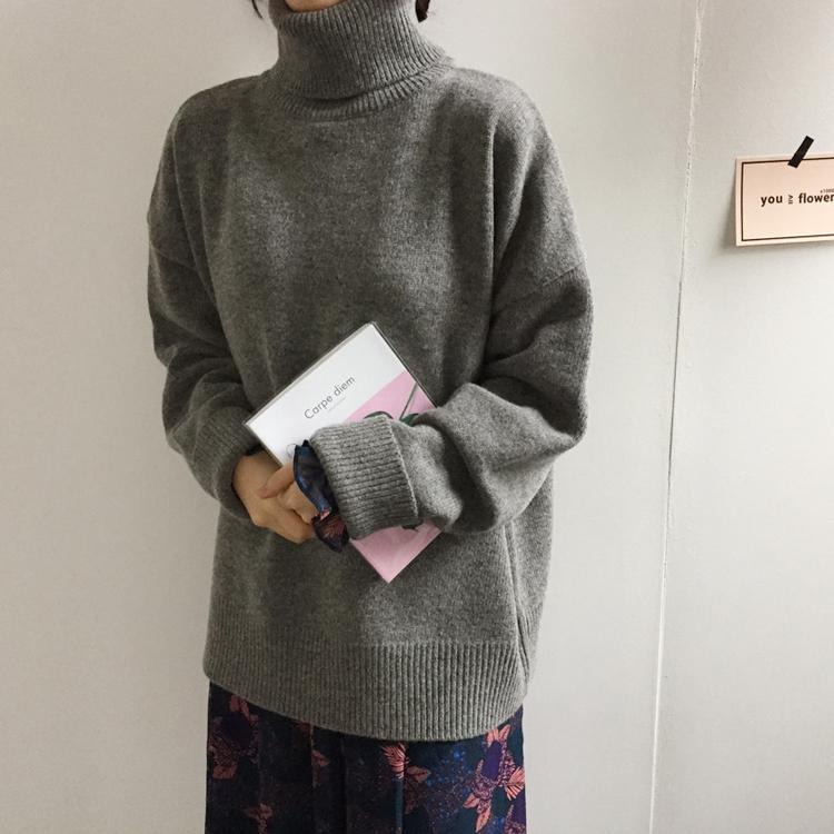 〈カフェシリーズ〉タートルネックセーター【turtle neck sweater】