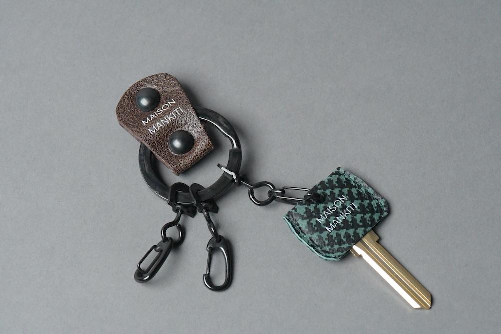 KEY RING・CAP ■DB・チドリ■_本革真鍮キーリング・キーキャップセット_ - 画像2
