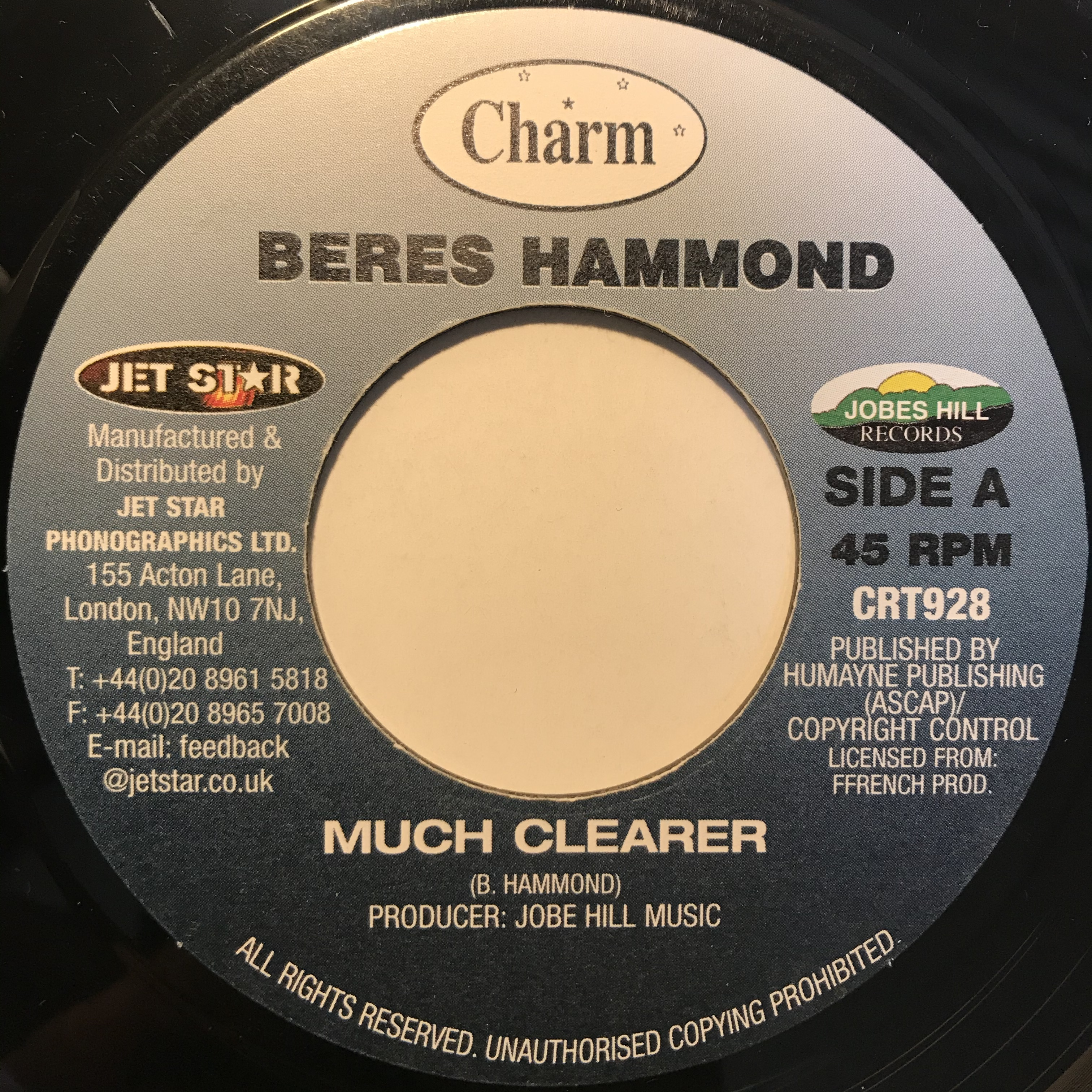 Beres Hammond - Much Clearer【7-10820】