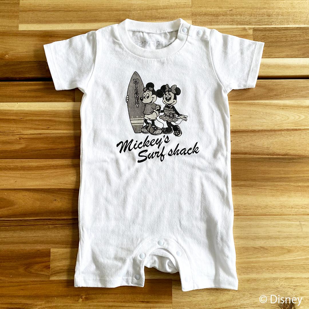 【予約:4月下旬発送】★Baby★ <Mickey's Surf shack> Rompers - White