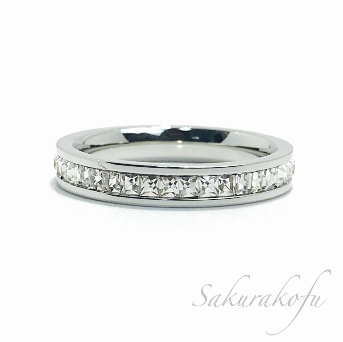 D003 送料無料 レディース 指輪 アクセサリー Silver Eternity Ring
