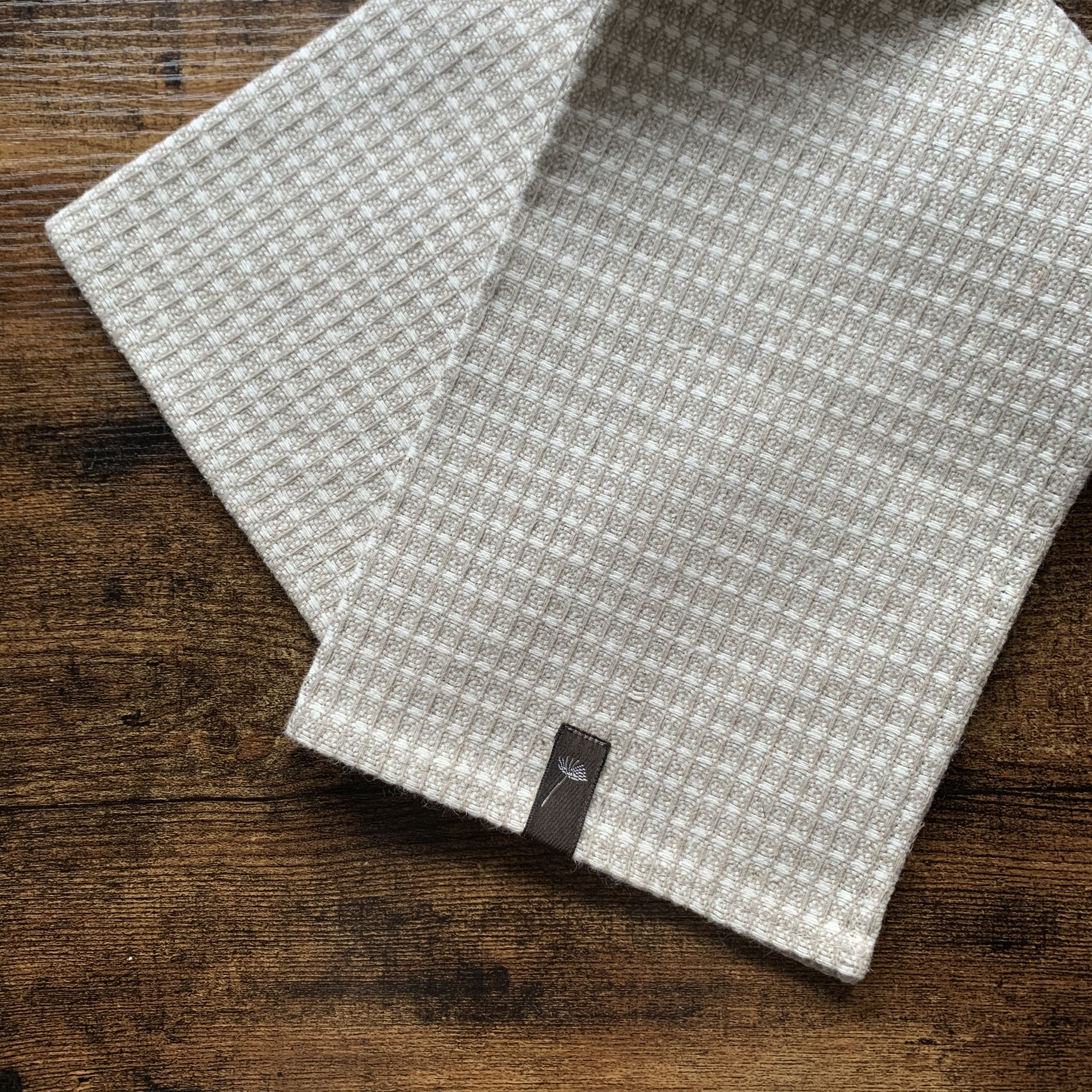 """""""  Latvia  Linen kitchen cloth / ラトビア リネン キッチンクロス ミックスワッフル """""""
