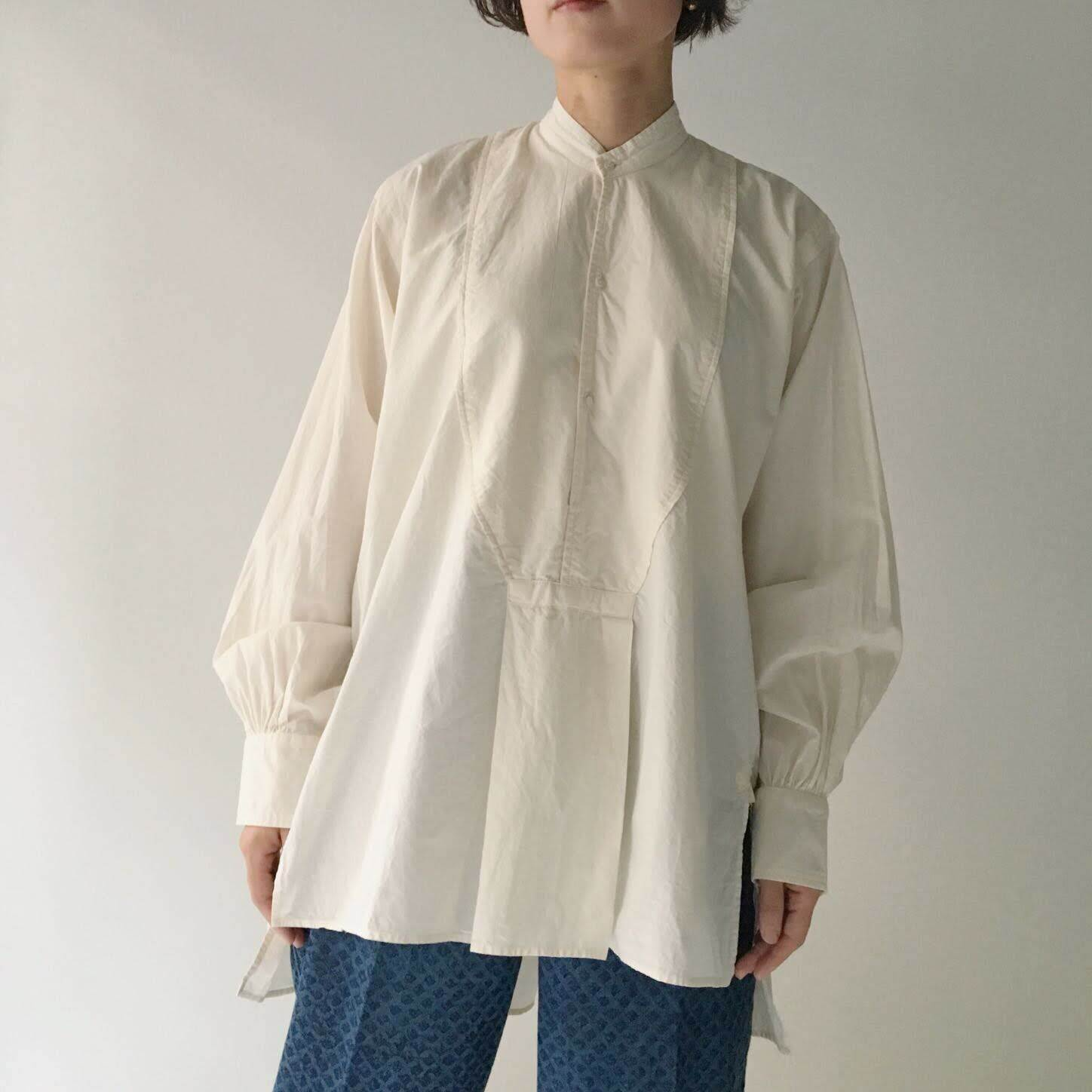 "Pullover Gather Blouse ""natural white"""