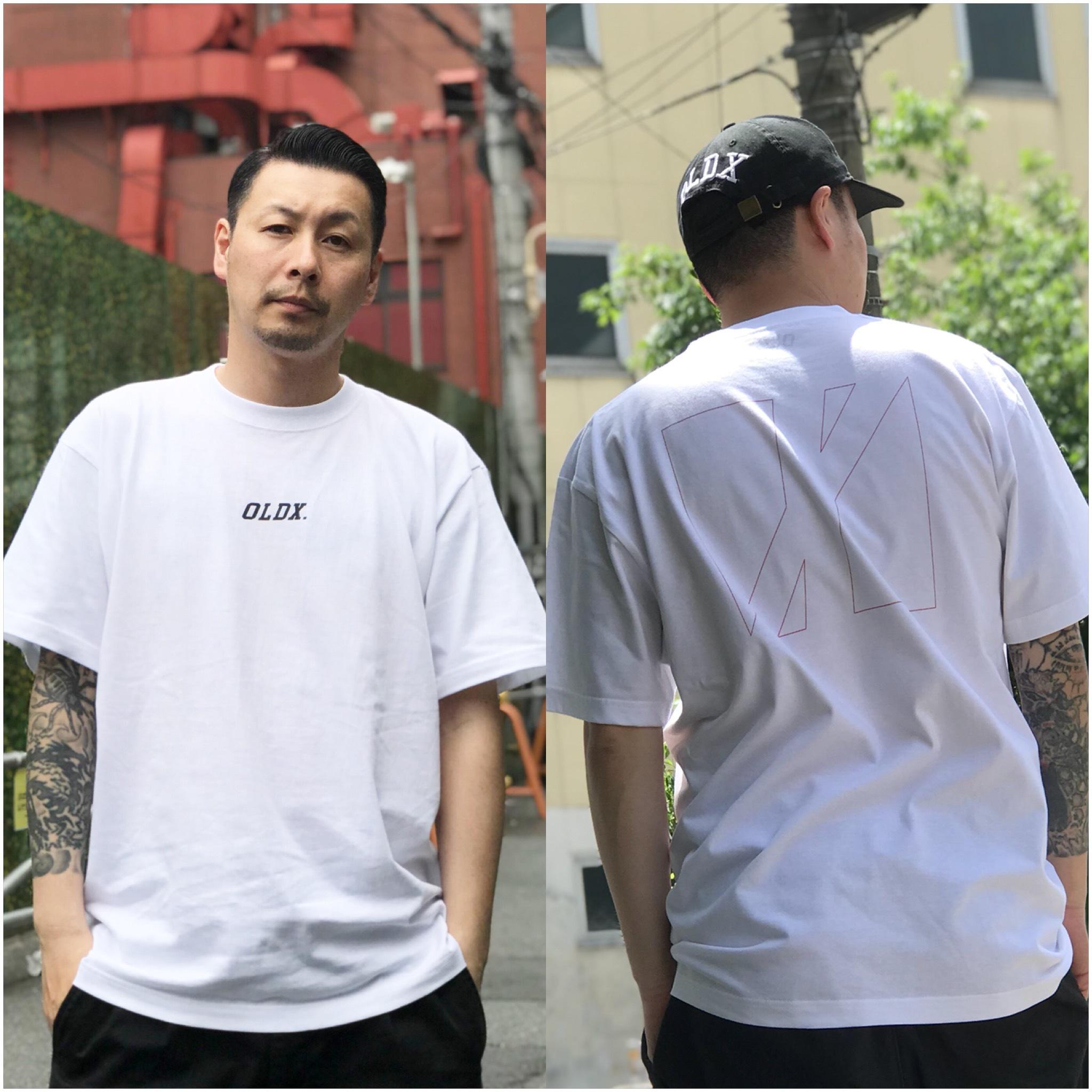 Slanting logo T-shirts WHITE