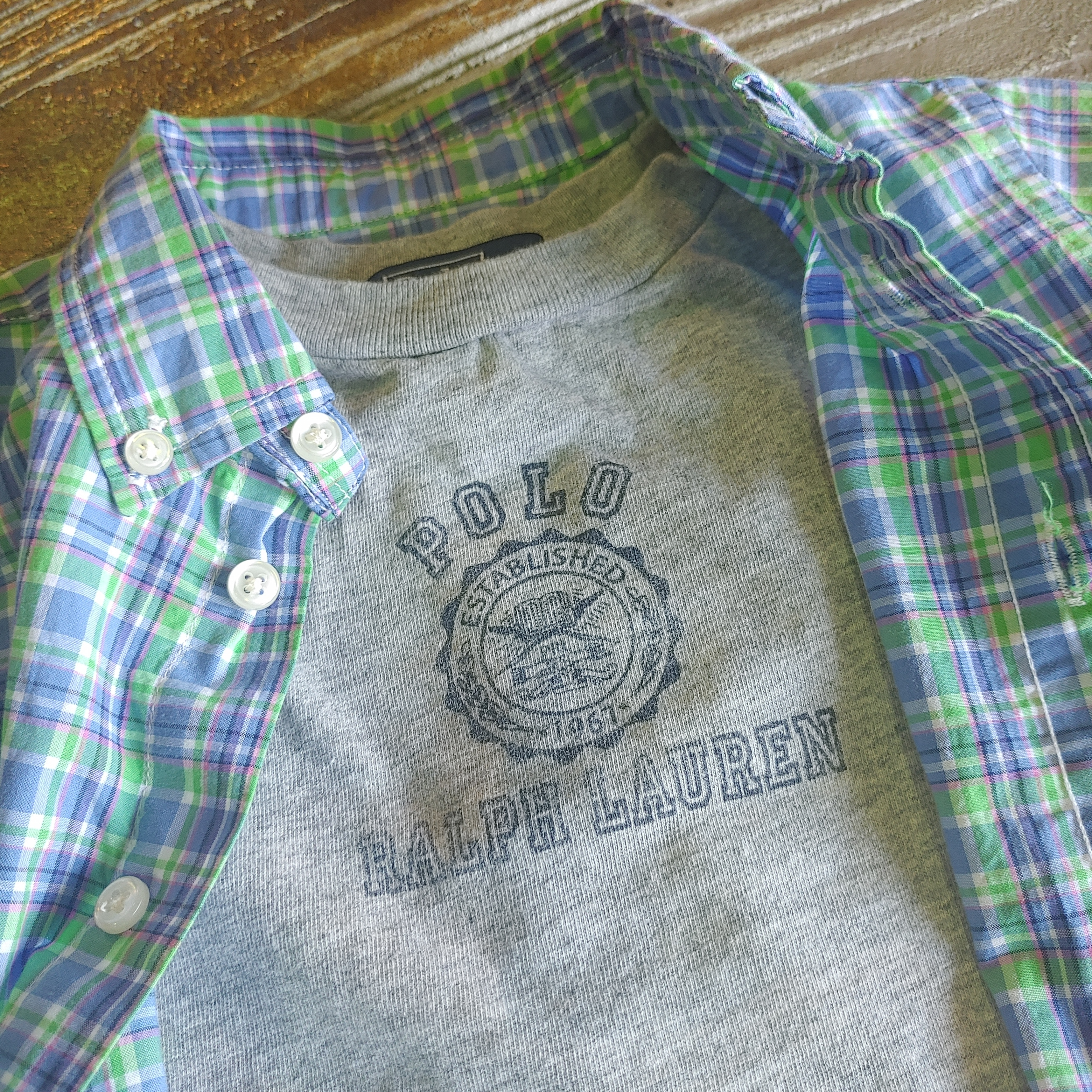 【KIDS USED】Ralph Lauren L/S Shirt*12M