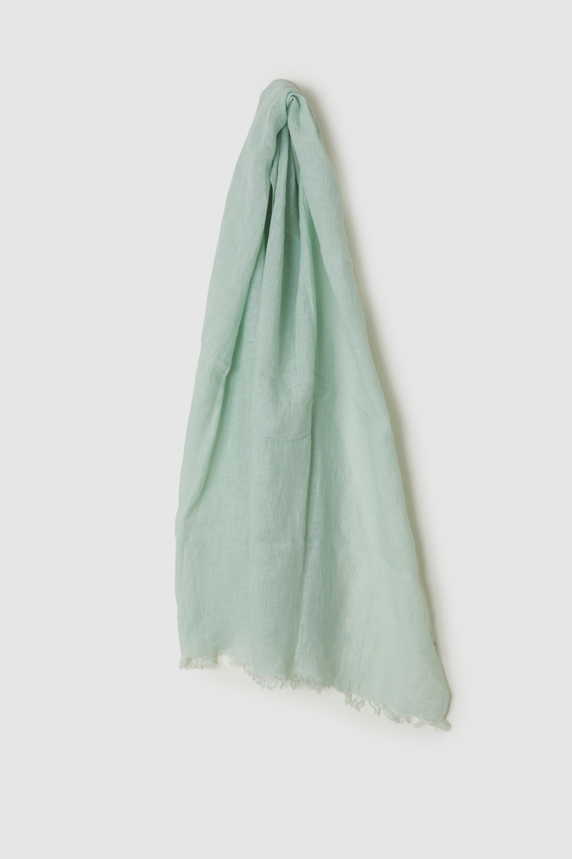 リネンボイルスカーフ MALLOW-PALE GREEN