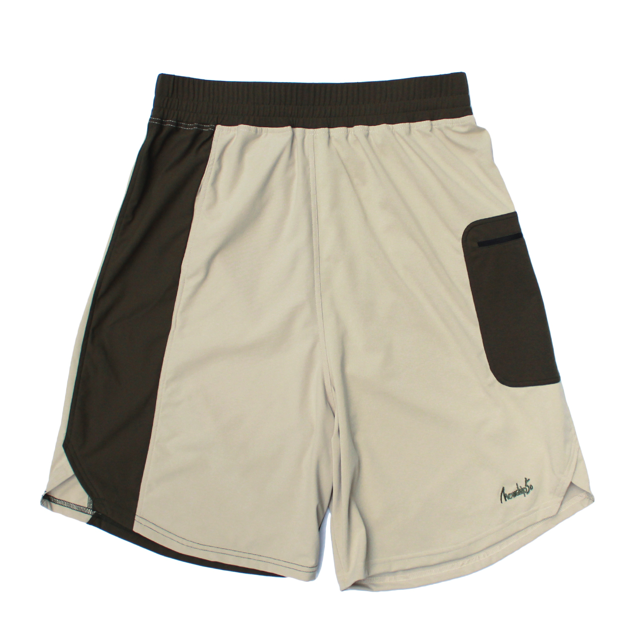 LOGO street shorts <Khaki×Beige>  - 画像1