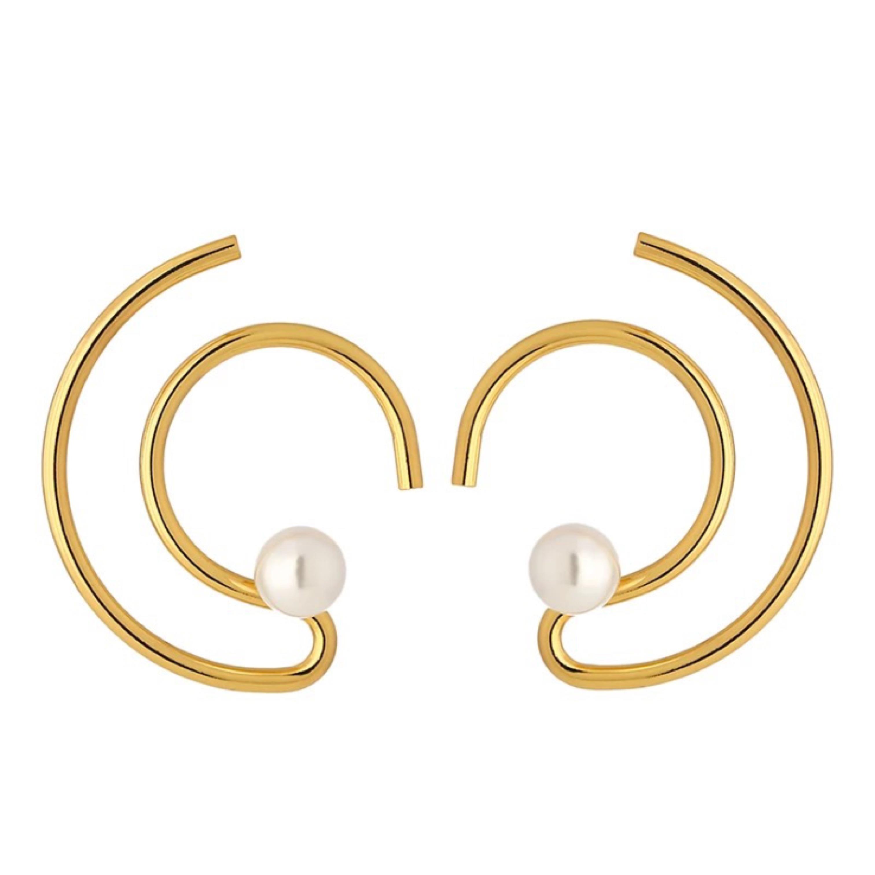curve earring (ピアスタイプ)